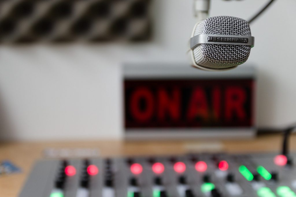 Microphone and on air sign